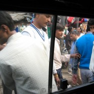 Window + Crowds in Delhi