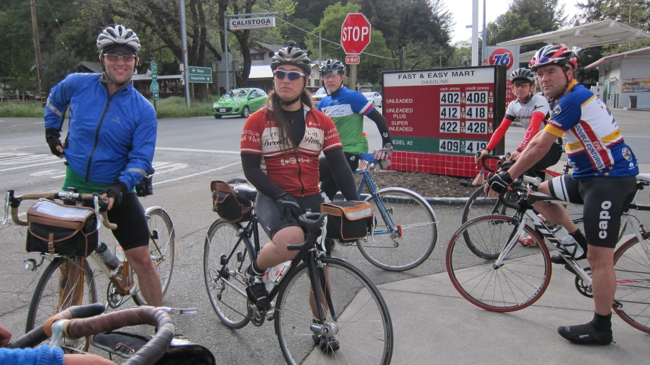 Team 'Oblio's Dog'; they were riding from Berkeley to Suisun, Winters, Healdsburg, Santa Rosa, Petaluma, Corte Madera and SF.