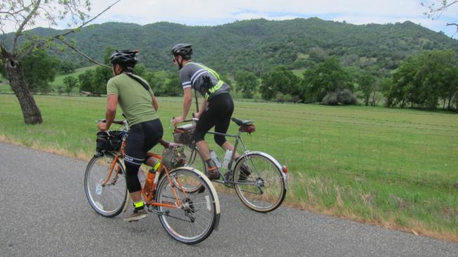 pedaling along